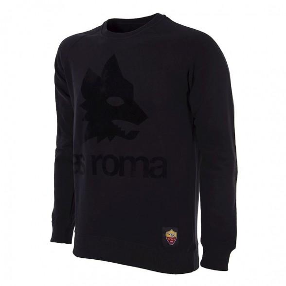 AS Roma Black Out Retro Logo Sweater