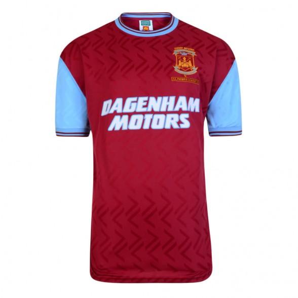 Maillot rétro West Ham 1994. Bobby Moore Memorial Match 7/03/1994.