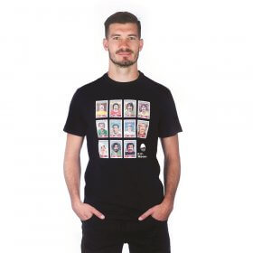 Moustache Dream Team T-Shirt | Black
